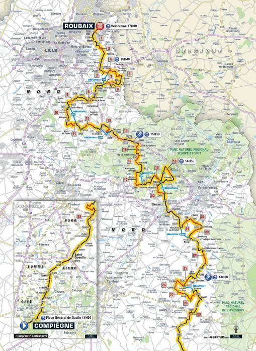 Paris Roubaix Route