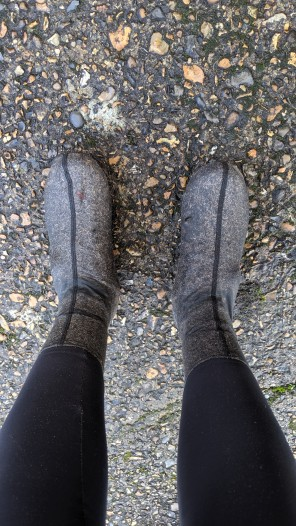 Overshoes for wetter days...